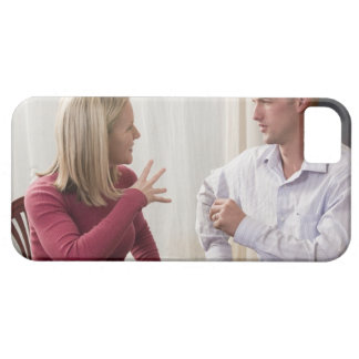 Woman signing the word 'Fine' in American Sign iPhone 5 Case