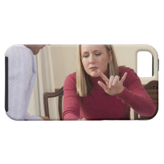 Woman signing the word 'Fly/Airplane/Airport' in iPhone 5 Cases