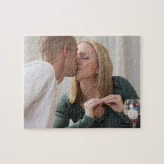 Woman signing the word 'Kiss' in American Sign Jigsaw Puzzle