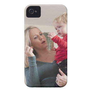 Woman signing the word 'Milk' in American Sign iPhone 4 Case