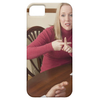 Woman signing the word 'Rent' in American Sign iPhone SE/5/5s Case