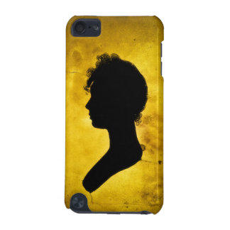 """Woman Silhouette on Gold"" iPod Touch Speck case"