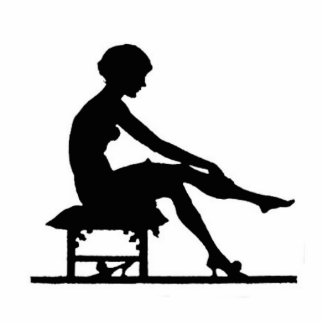 Woman Silhouette Standing Photo Sculpture