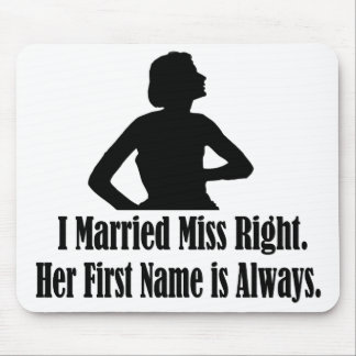 Woman silhoutte and funny sexist text. mouse mat