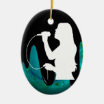 WOMAN SINGER PRODUCTS ORNAMENT