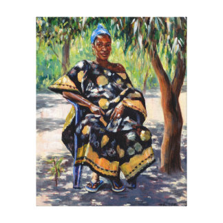 Woman Sitting 2004 Canvas Print