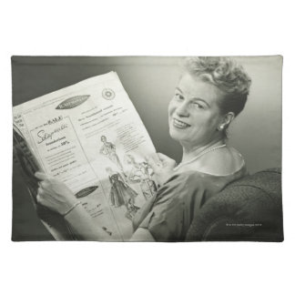 Woman Sitting in Chair Placemat