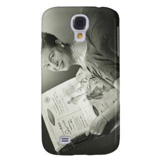 Woman Sitting in Chair Samsung Galaxy S4 Cover