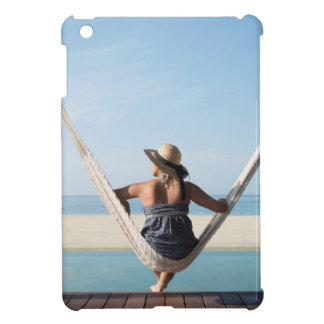 Woman Sitting On A Hammock At A Small Hotel iPad Mini Cover
