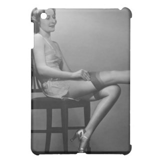 Woman Sitting on Chair iPad Mini Case