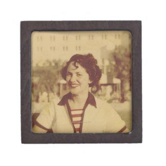 Woman Sitting Outside Keepsake Box