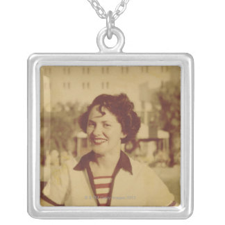 Woman Sitting Outside Necklace