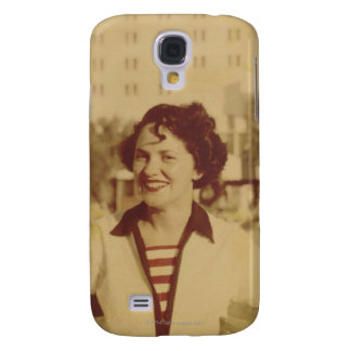 Woman Sitting Outside Samsung Galaxy S4 Case