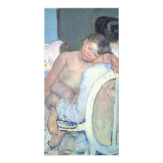 Woman Sitting with Child in Her Arms Mary Cassatt Card