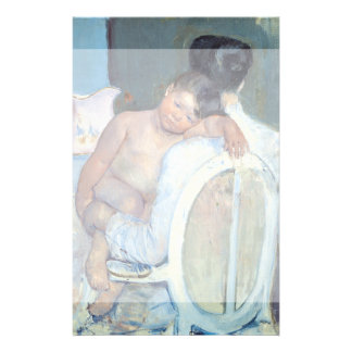 Woman Sitting with Child in Her Arms Mary Cassatt Flyer