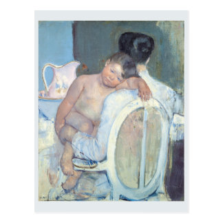 Woman Sitting with Child in Her Arms Mary Cassatt Postcard