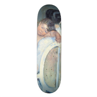 Woman Sitting with Child in Her Arms Mary Cassatt Skateboard