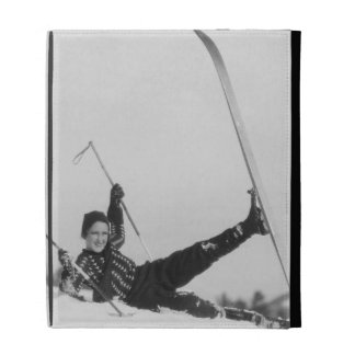 Woman Skier 2 iPad Folio Cover
