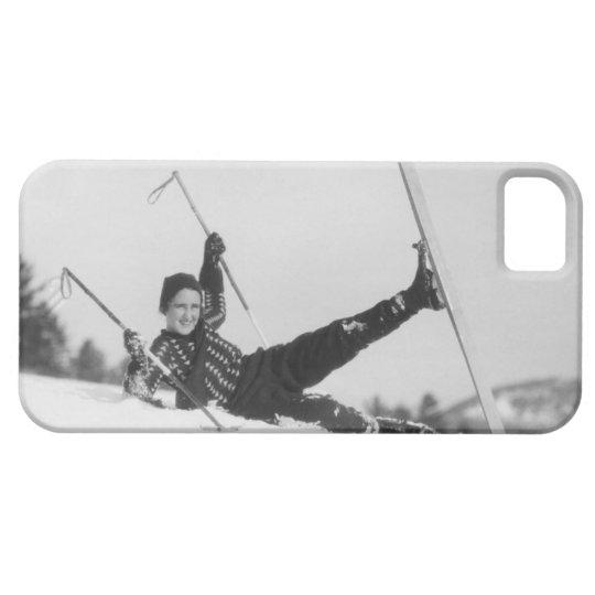 Woman Skier 2 iPhone SE/5/5s Case