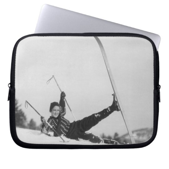 Woman Skier 2 Laptop Sleeve