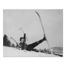Woman Skier 2 Poster