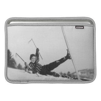 Woman Skier 2 Sleeves For MacBook Air