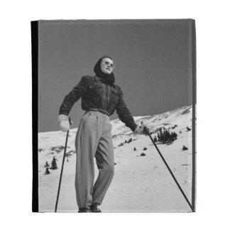 Woman Skier iPad Case