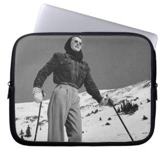 Woman Skier Laptop Sleeve