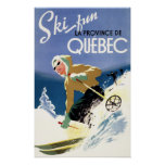 Woman Skiing - Both English and French Poster