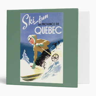 Woman Skiing - Both English and French Poster 3 Ring Binder