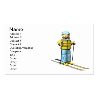 Woman Skiing Business Card