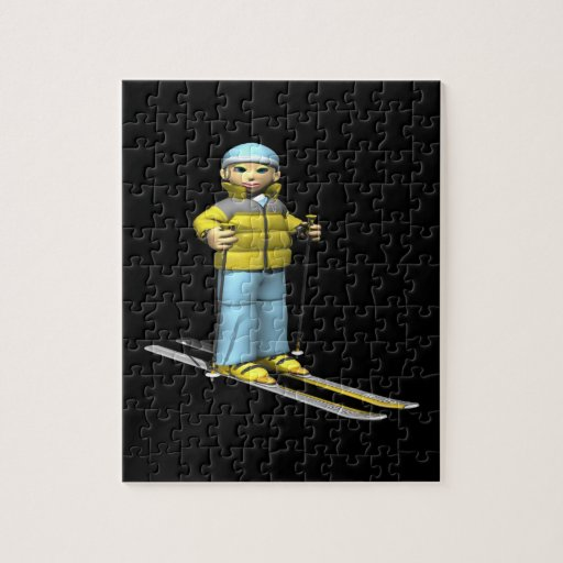 Woman Skiing Puzzle