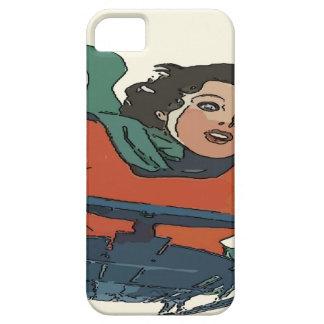 Woman Sledding in Snow iPhone SE/5/5s Case