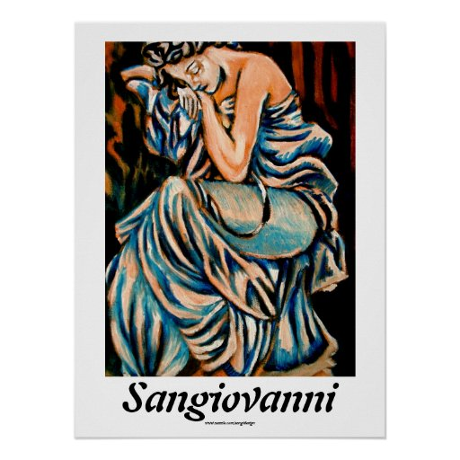 Woman Sleeping by Omar Sangiovanni Poster