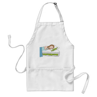 Woman Sleeping on Bed of Cash Adult Apron