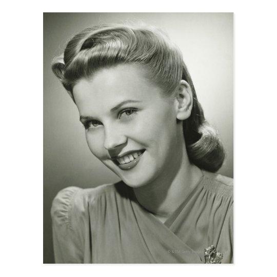Woman Smiling 2 Postcard