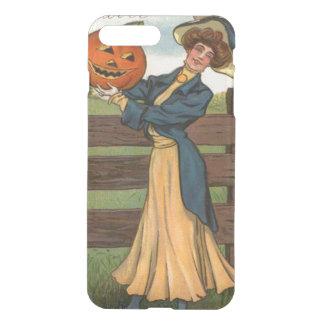 Woman Smiling Jack O' Lantern Pumpkin Farm iPhone 8 Plus/7 Plus Case