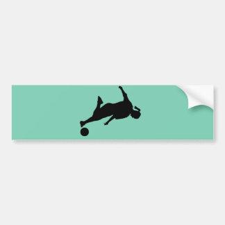 woman soccer bumper sticker