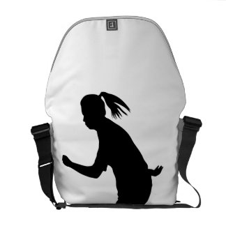 Woman Soccer Player Courier Bag