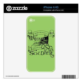 Woman Soldier by Locker 32 iPhone 4 Decal