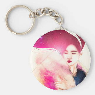 Woman space keychain