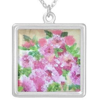 Woman Square Pendant Necklace