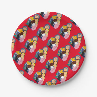 Woman Stages Of Life Matryoshka Dolls Paper Plate