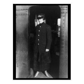 Woman subway worker, N.Y.C., 1917 Vintage Post Card