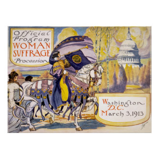 Woman suffrage procession, Washington, D.C. Poster