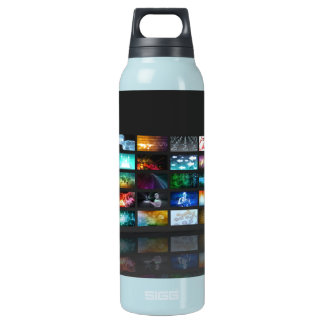 Woman Surfing the Web on Smartphone or Tablet Insulated Water Bottle