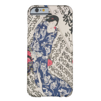 Woman surrounded by Calligraphy (colour woodblock Barely There iPhone 6 Case