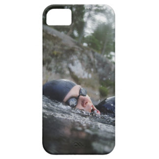 Woman swimming, close-up iPhone 5 cover