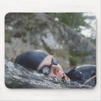 Woman swimming, close-up mouse pad