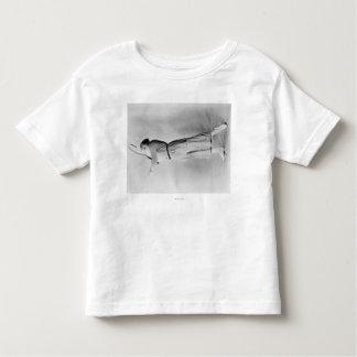 Woman Swinging Tennis Raquet Toddler T-shirt
